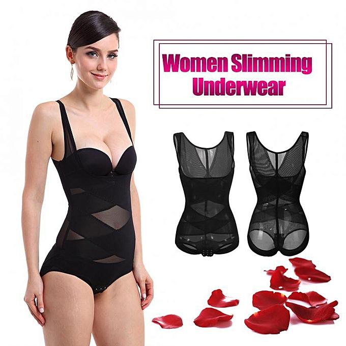 e3e551c7398 FASHION Women One-piece Underbust Slimming Bodysuit Full Body Waist  Training Underwear (L)