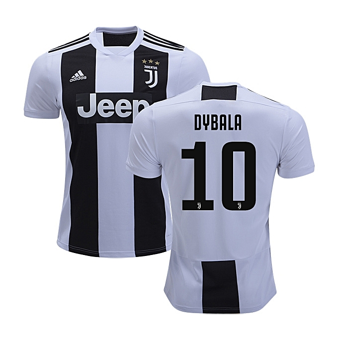 best website e31db f2b92 2018/19 Curstomised Dybala Juventus jersey Replica, White, Black