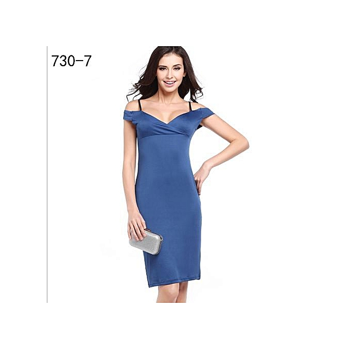 e7ab987b8 Midi Dress Women's Sleeveless V-Neck Slim Sexy A-Line Office Ladies Sun  Dresses