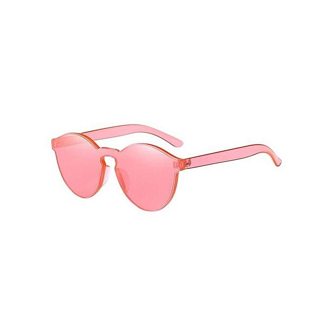 d0e6ea64c0 Fashion Retro Frameless Sunglasses Women Cat Eye Candy Color Transparent Glasses  Lenses Color Watermelon red