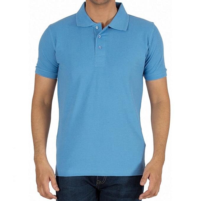c7c2600dbca0e Sky Blue Men s Polo T-Shirt