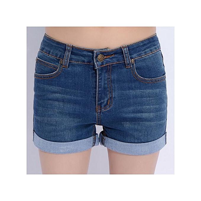 ada2033300 Super Big Size Women Short Jeans Club High Waist Short Femme Sexy Punk  Casual Shorts-