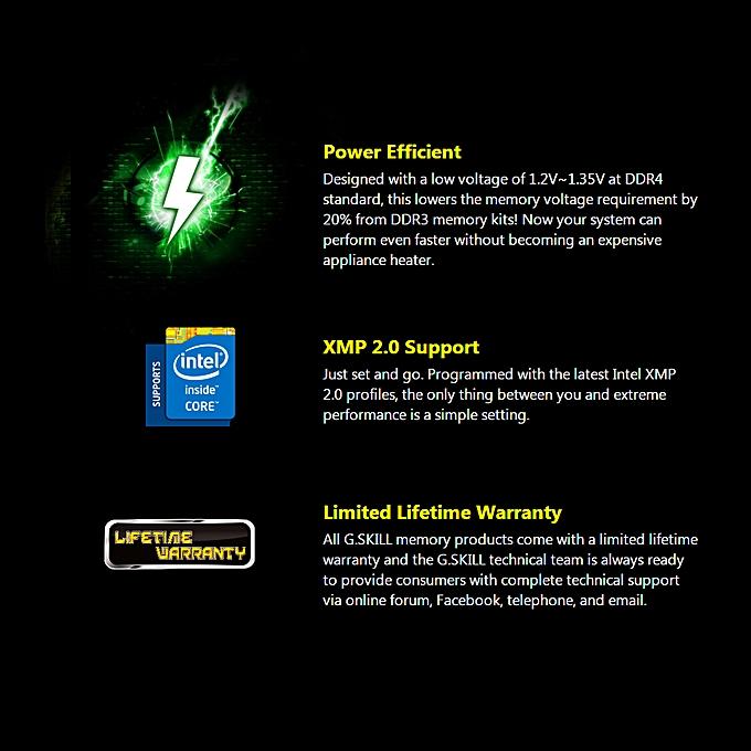 G SKILL Ripjaws 4 Series 8GB DDR4 Memory Ram 2400MHz F4-2400C15S-8GRK Black