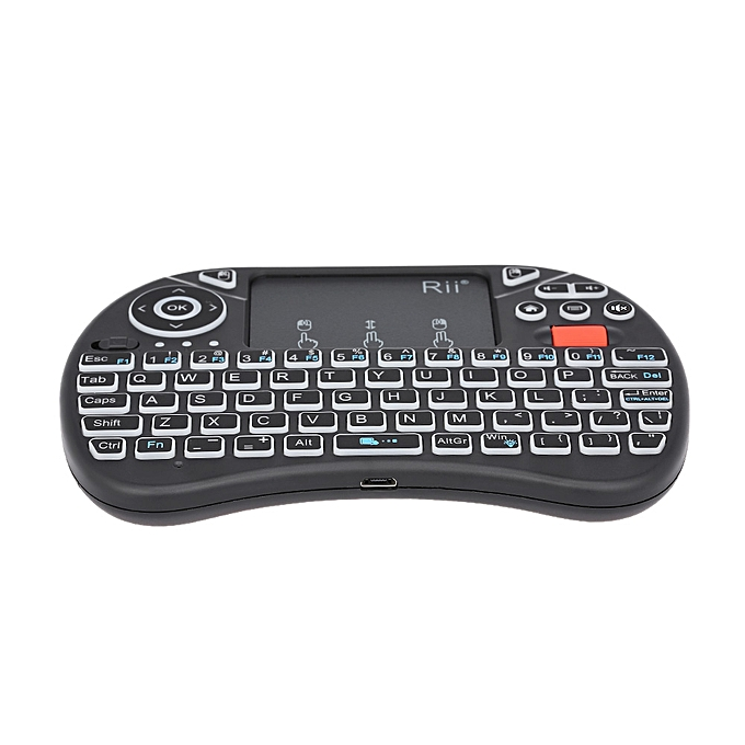 d88f2797ca7 ... Rii i8X 2.4GHz Backlit Wireless Keyboard Touchpad Mouse Handheld Gaming  Remote Control for Android TV