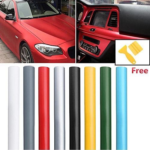 13 Color Premium Matte Flat Auto Car Vinyl Wrap Sticker Decal Bubble Air Release Red
