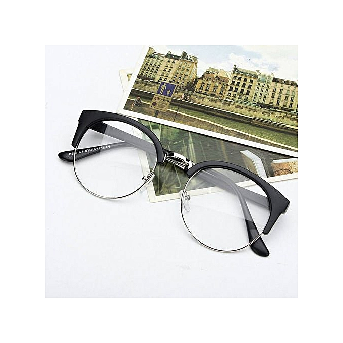 61a71c42b7db Retro Style Women Men Nerd Glasses Clear Lens Eyewear Round Metal Frame  Glasses