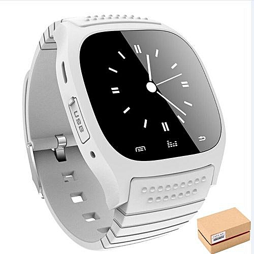 Smart Wristband Smart Bracelet M26 Bluetooth Clock Smart Watches Android  Wearable Devices Social App/Call Reminder Smartwatch for Samsung  Xiaomi-white