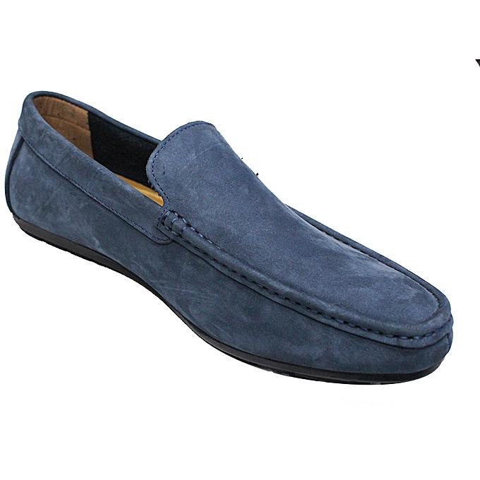 c0d92594ef2 new accessories Men s Faux Leather Moccasins - Navy Blue.