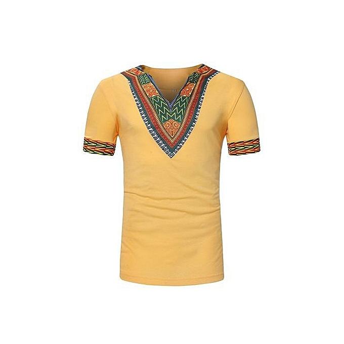 f6c6931c Generic Stylish African Style Ethnic Print Men's Short -sleeved T ...