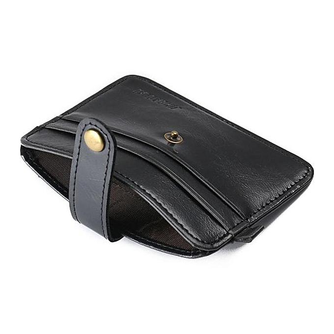 12bbd98c0c77 Luxury Retro Mens Leather Clutch Billfold Wallet Credit ID Card Slim Purse  BK