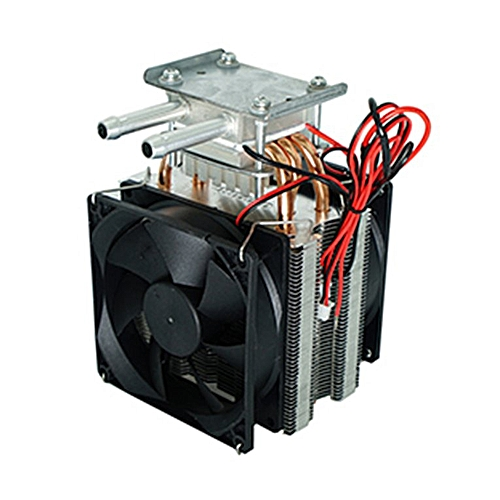 Thermoelectric Peltier Refrigeration DIY Water Cooling System Cooler Device  black