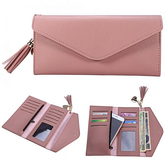 8a6fc8d9f 4Colors Fashionable Ladies' PU Leather Wallet Card Purse Women Tassel Money  Bag