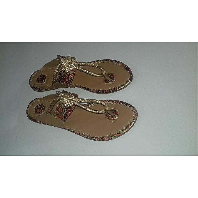 0de12a48c Buy Generic Brichie Fashion Zone Designer Flat Sandals - Brown ...