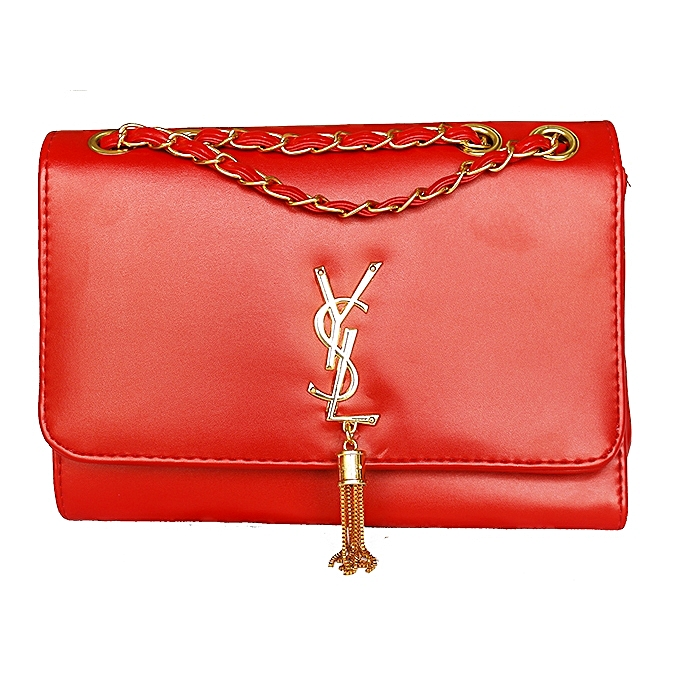 a6e0bf8178ce YSL Bell Detailed Women s Cross Bag - Red ...