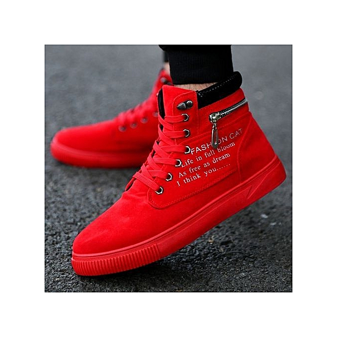 9123ec91f5431 Stylish Autumn And Winter Letters Zippers High-top Shoes