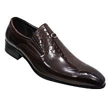 519aea8ac7d2 Pointed Toe Formal Shoes - Coffee Brown