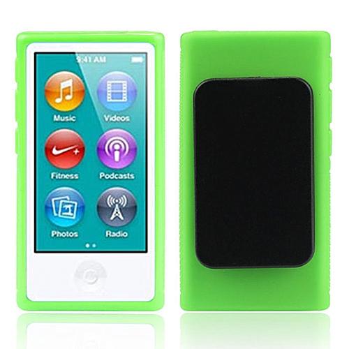 Hiamok TPU Rubber Gel Soft Case Cover Belt Clip For iPod Nano 7 7G 7th Gen  GN