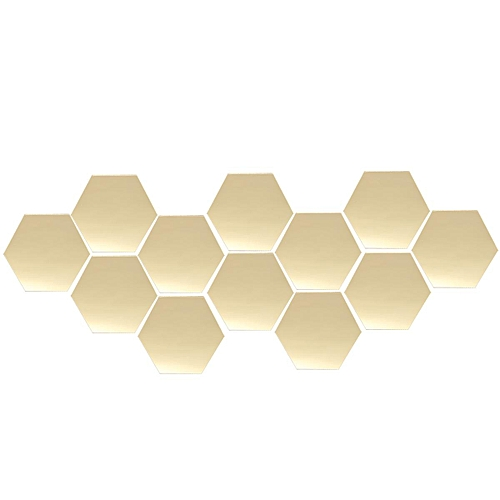 120Pcs Mirror Hexagon Removable DIY Wall Sticker Art Decal Home Decor  126x110mm
