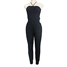 bc590864531a Open Back Sleevless Designed Women  039 s Jumpsuit - Black