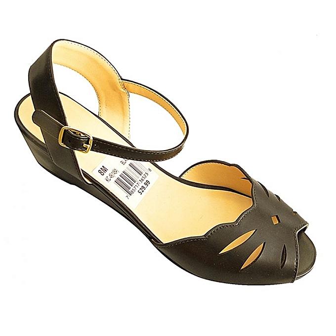 - Designer Women's Smart Formal Casual Wedge Shoes - Black ...