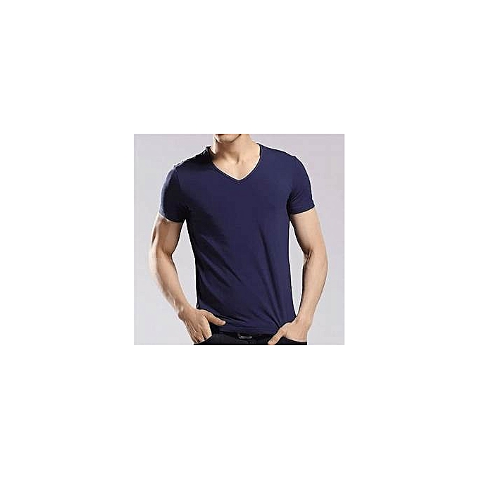 6b257ef3655 Other men s v-neck short sleeve T-Shirt-Navy Blue