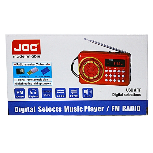 Portable Joc Digital Selects Music Player/Fm Radio-Black