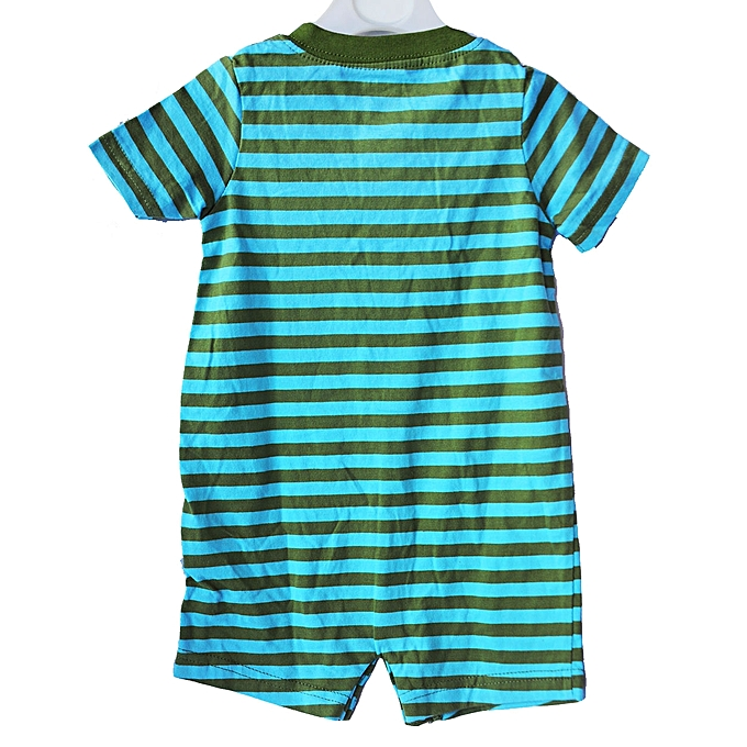 e75a771bc Other Carter Striped Short Sleeve Romper - Green