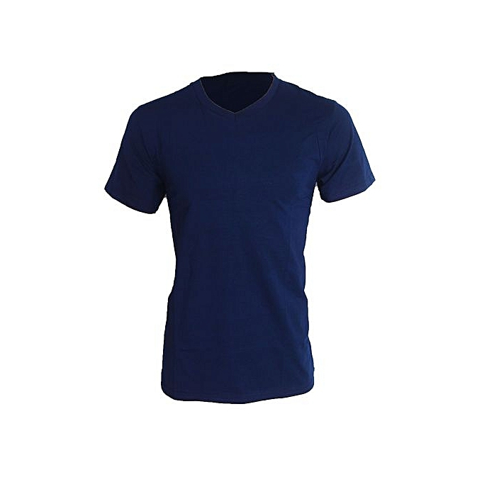 fcc0a5956f9 V-Neck Short Sleeve T-shirt - Navy Blue