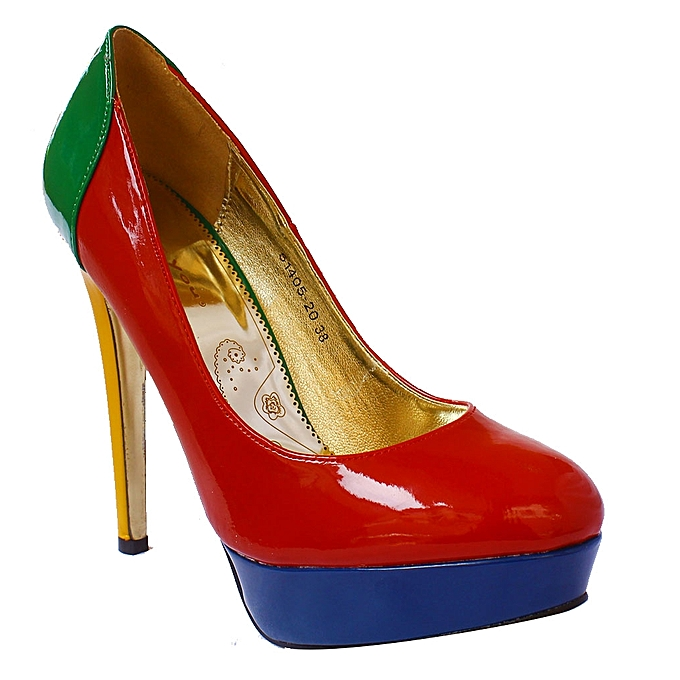 cdf369d681f Platform Block Heel Shoes - Multicolour