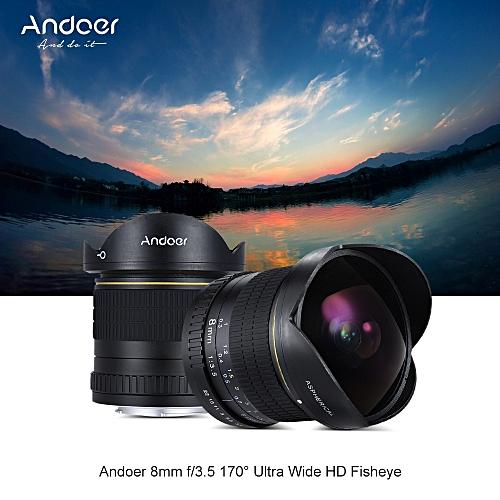 Andoer 8mm F/3 5 170° Ultra Wide HD Fisheye Aspherical Circular Lens for  Nikon D7100 D7200 D7000 D300 D300S D5500 D810 D800 D800E D810A D600 D610  D700