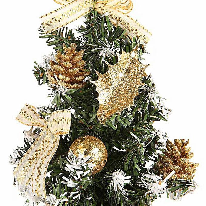 ... Artificial Tabletop Mini Christmas Tree Decorations Festival Miniature Tree 30cm