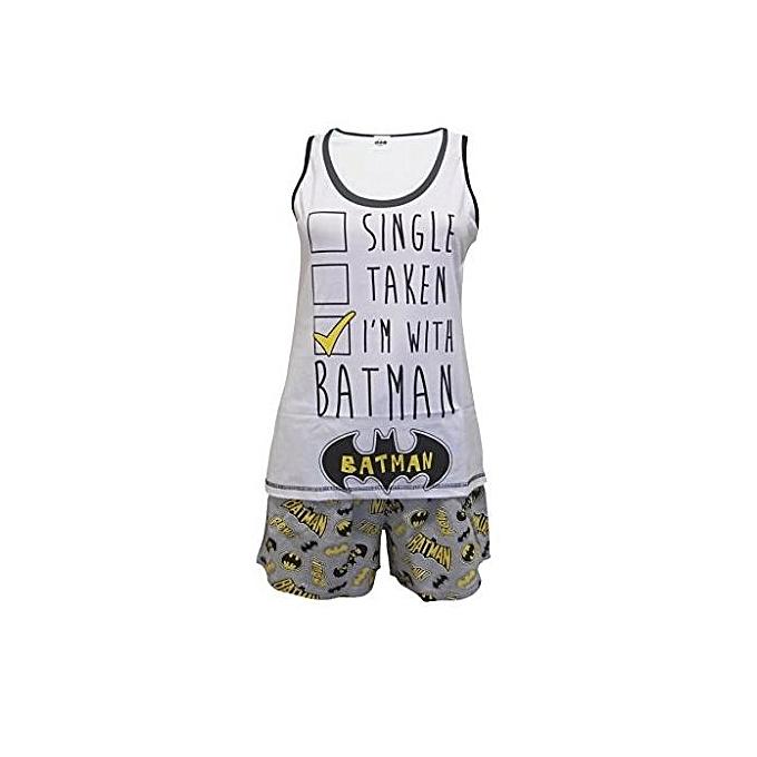 Ladies DC Comics Single Taken I m With Batman Short Pajama Set - Multi- be4b7d0cd