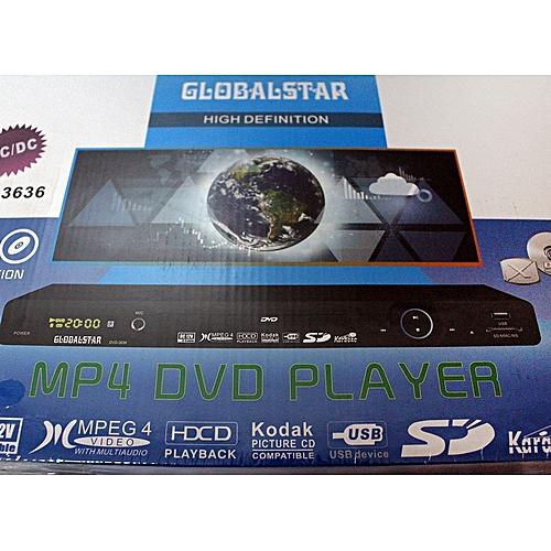 new globalstar dvd player dvd 3636 high definition mp4 dvd player black jumia uganda. Black Bedroom Furniture Sets. Home Design Ideas