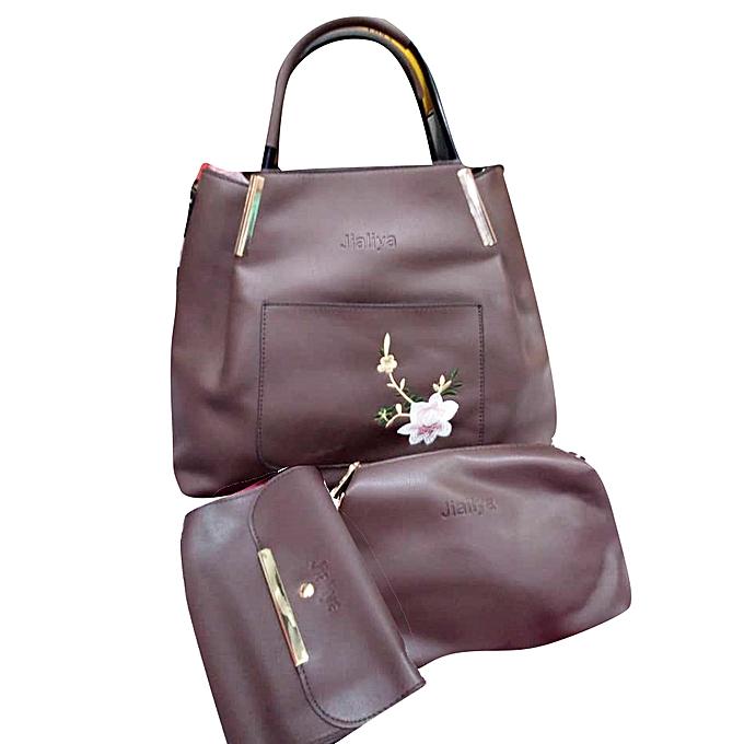 4634c9ef187 Women's 3 In 1 Faux Leather Designer Handbag - Maroon
