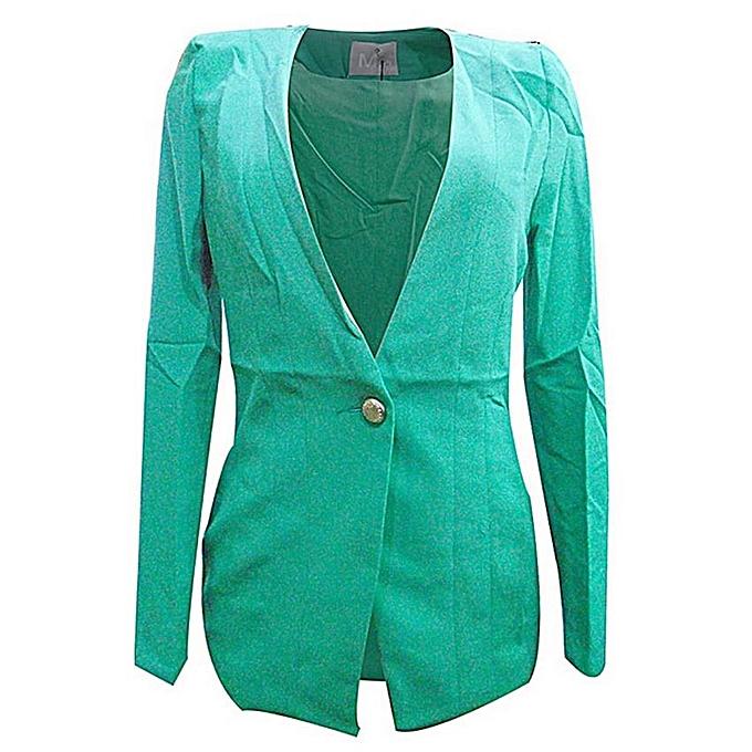 Blazers Jumia: - Long Sleeved Women's Blazer-Dark Green