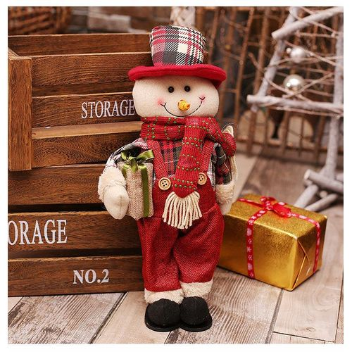 Creative Christmas Gifts.Creative Christmas Decoration Baby Doll Elderly Yeti Moose Doll Standing Posture