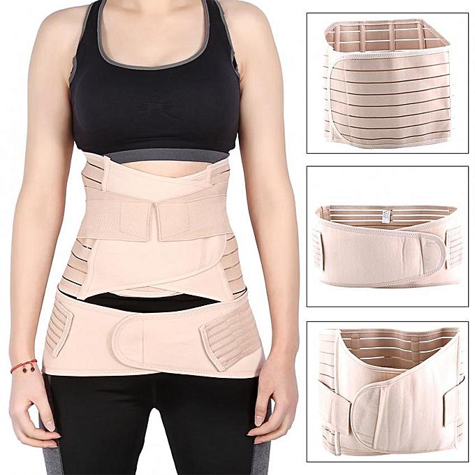 cffdfb683d1d7 3PCS/Set Postpartum Recovery Body Shaper Waist Trimmer Back Support Tummy  Belts(XL)