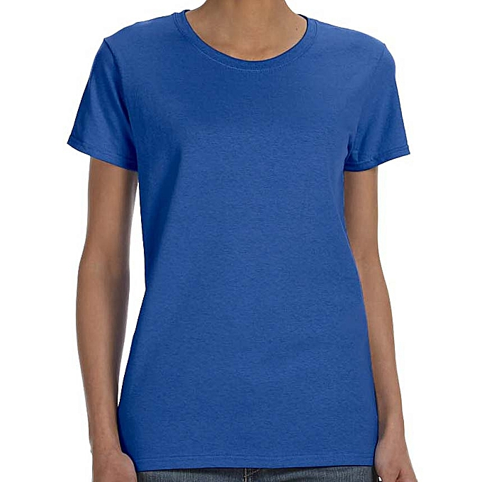 32d96b6095cf Buy Other Round neck Women's Plain T-Shirt-Royal Blue online | Jumia ...