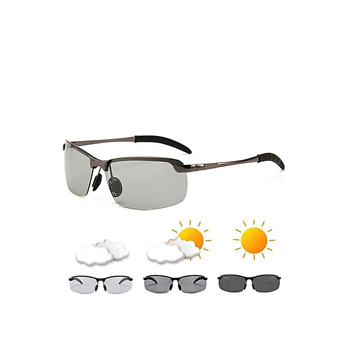 8870d25b3cc12 ... HD Lens Photochromic Polarized Sunglasses Men Driving Day and Night  Vision - Clear ...