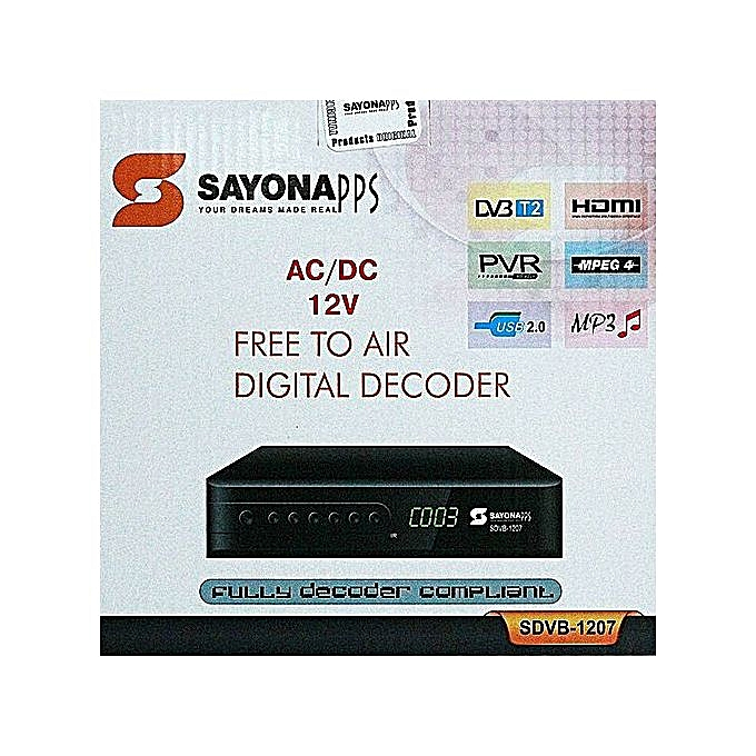 SDVB-1129 - Free To Air Digital Set Box Decoder - Black