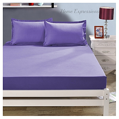 Delightful Lavender Cotton Bedsheets With 2 Pillow Cases , 6x6