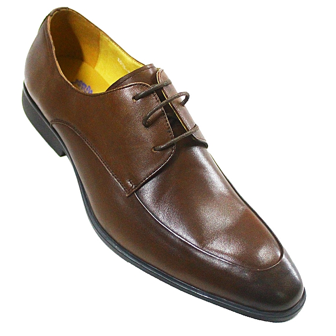 8f93530b3d8dfe Buy Generic Leather Lace Up Dress Shoes - Brown online | Jumia Uganda