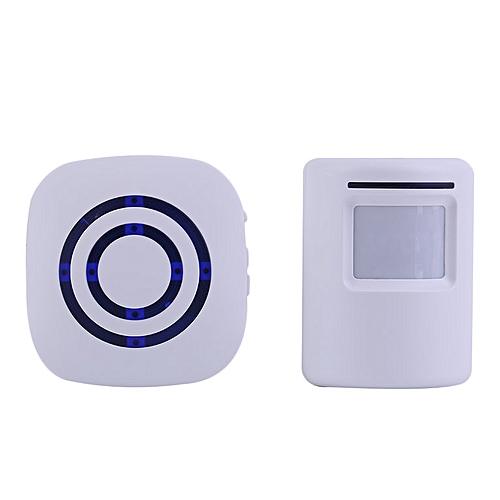Wireless Digital Doorbell with PIR Sensor Infrared Induction Alarm Door  Bell White
