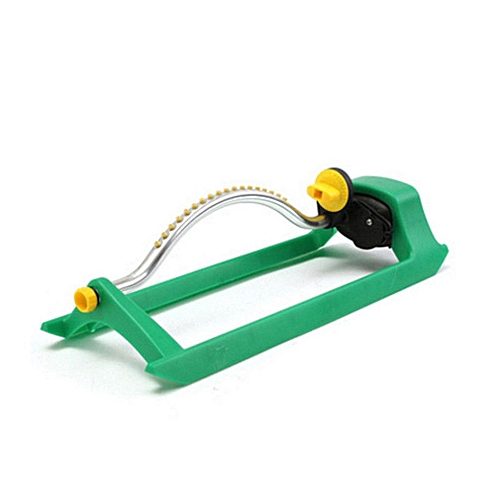 Oscillating 16-Hole Lawn Sprinkler Automatic Watering Pipe Hose Water Flow  green