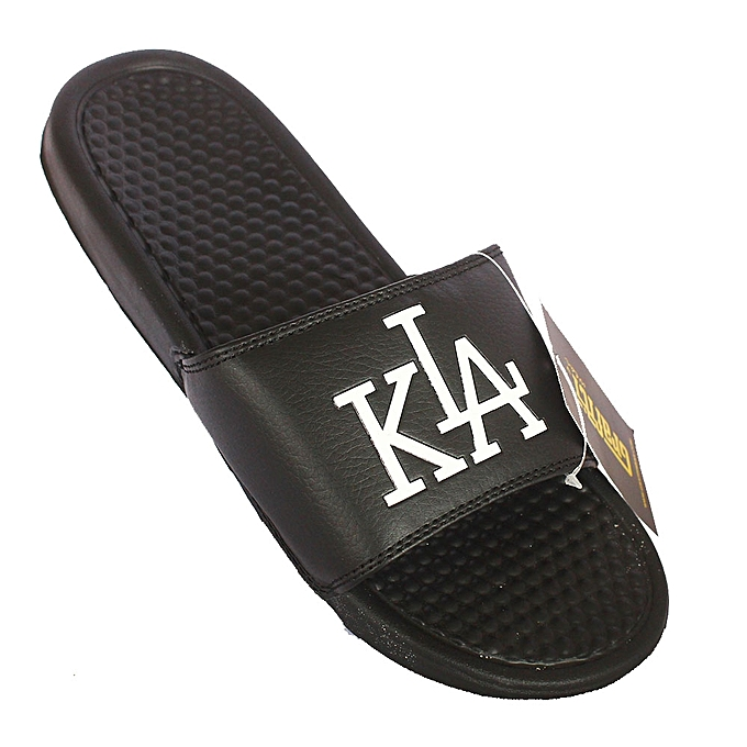 bab6fcdceae461 White Label Kla Print Men s Slide Flip Flops - Black