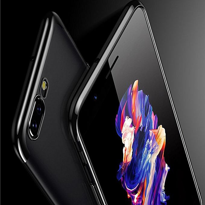 premium selection f5701 82463 Hiamok For Oneplus 5 Five Case Soft TPU Bumper Clear Protective Back Cover