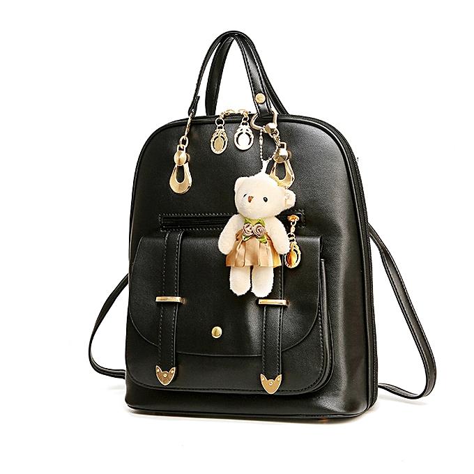 654b9c1410 Haimok Fashion Women Girl School Leather Shoulder Bag Backpack Travel  Rucksack Purse BK