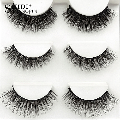 be0812761a0 Buy Generic SHIDISHANGPIN 3 Pairs Mink Eyelashes 3D False Lashes Mix Style  Thick Makeup Eyelash Extension Natural Volume Soft Fake Eye Lashes online |  Jumia ...