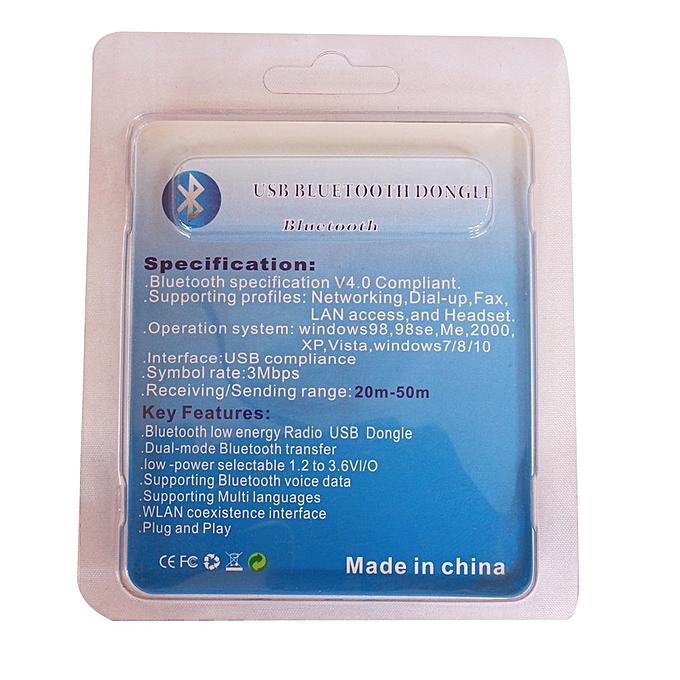 Bluetooth CSR 4 0 Dongle Plug & Plug, Receiving/Sending range: 20m-50m,  Bluetooth - Black