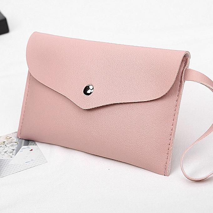 Haimok Fashion Women Lichee Pattern Handbag Coin Bag Phone Bag Envelope  Bags Pink